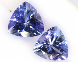 1.13 CTS  TANZANITE  FACETED  STONE PARCEL (2pcs) PG-2848