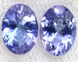 1.42CTS  TANZANITE  FACETED  STONE MATCHED PAIR  PG-3456
