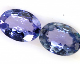 1.50 CTS  TANZANITE  FACETED  STONE PAIR PG-2854