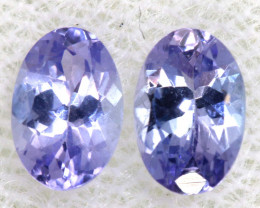 0.96CTS  TANZANITE  FACETED  STONE MATCHED PAIR  PG-3468
