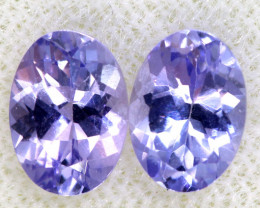 1.76CTS  TANZANITE  FACETED  STONE MATCHED PAIR  PG-3476