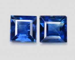 *NoReserve* Blue Sapphire 0.36 Cts 2 Pcs Amazing Rare Natural Fancy Loose G