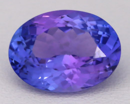 4.17Ct Natural Vivid Blue Tanzanite IF Flawless Oval Master Cut A2401