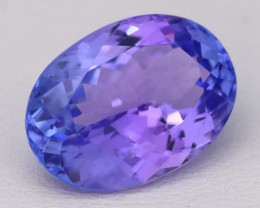 7.01Ct Natural Vivid Blue Tanzanite VVS Flawless Oval Master Cut A2402