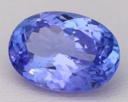 7.01Ct Natural Vivid Blue Tanzanite VVS Flawless Oval Master Cut A2402