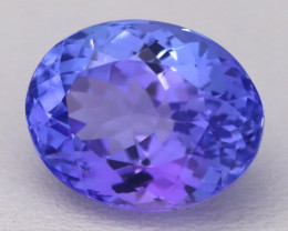 4.86Ct Natural Vivid Blue Tanzanite IF Flawless Oval Master Cut A2404