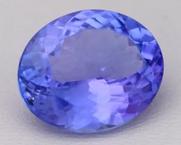 8.20Ct Natural Vivid Blue Tanzanite IF Flawless Oval Master Cut A2405