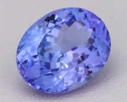 4.79Ct Natural Vivid Blue Tanzanite IF Flawless Oval Master Cut A2408