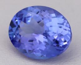 4.13Ct Natural Vivid Blue Tanzanite IF Flawless Oval Master Cut A2411