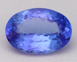 5.71Ct Natural Vivid Blue Tanzanite VVS Flawless Oval Master Cut A2413