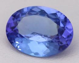 4.89Ct Natural Vivid Blue Tanzanite VVS Flawless Oval Master Cut A2414
