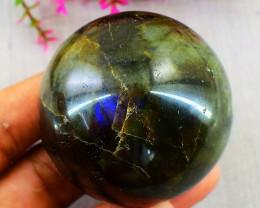 Genuine 887.00 Cts  Labradorite  Hand Carved Healing Ball