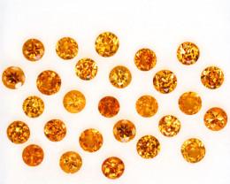 2.55 Cts Natural Fanta Orange Spessartite Garnet Round Namibia