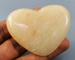 Genuine 238.00 Cts Aventurine Hand Carved Heart
