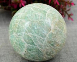 Genuine 832.00 Cts Amazonite  Hand Carved Healing Ball