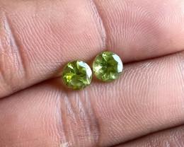 Natural Peridot Gemstone Pair 100% Genuine VA5202
