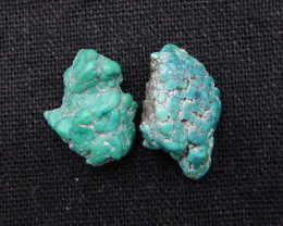 20cts Nugget Turquoise Cabochon Pair ,Handmade Gemstone ,Turquoise Cabochon