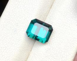 3.10 Ct Natural Blue Indicolite Transparent Tourmaline Gemstone