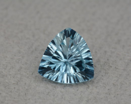 Natural Blue Topaz 5.18 Cts Concave Cut.