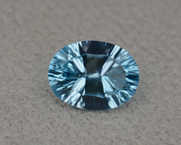 Natural Blue Topaz 4.89 Cts Concave Cut.