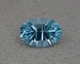 Natural Blue Topaz 5.10 Cts Concave Cut.