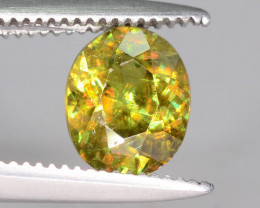 Sparkle 0.90 cts Eye Catching Chrome Sphene Ring Size