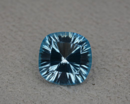 Natural Blue Topaz 8.55 Cts Concave Cut.