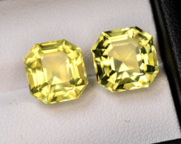 Asscher Cut 10.15 Ct  Genuine Madeira Brandy Natural Citrine~G
