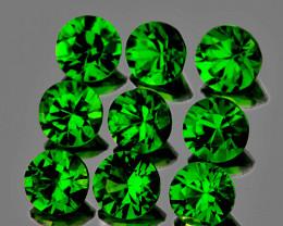 3.00 mm Round 9 pcs 1.16cts Chrome Green Diopside [VVS]