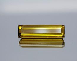 2.11Crt Yellow Tourmaline Rare Color Natural Gemstones JI10