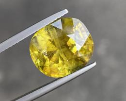 Natural  Sphene 9.26 Cts Great Color  Gemstone