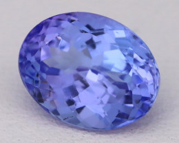 Tanzanite 2.38Ct VVS Oval Master Cut Natural Purplish Blue Tanzanite B2402