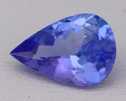 Tanzanite 1.37Ct VVS Natural Pear Master Cut Vivid Blue Tanzanite B2403