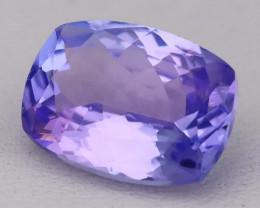 Tanzanite 2.60Ct VVS Octagon Master Cut Purplish Blue Tanzanite B2406