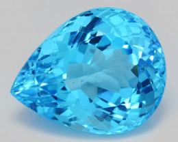 Topaz 34.05 Cts Swiss Blue Natural Gemstone