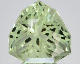 ~CUSTOM CUT~ 10.34 Cts Natural Prasiolite / Amethyst Fancy Trillion Brazil