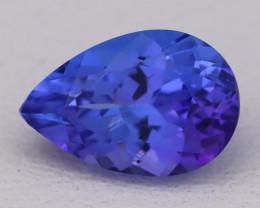 1.43Ct Natural Violet Blue Tanzanite IF Flawless Pear Master Cut B2413