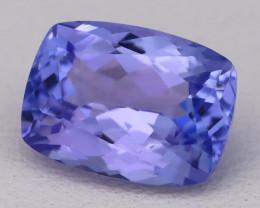 Tanzanite 2.88Ct VVS Natural Octagon Cut Vivid Blue Tanzanite B2418