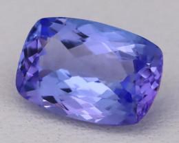 Tanzanite 1.76Ct VVS Natural Octagon Cut Vivid Blue Tanzanite B2419