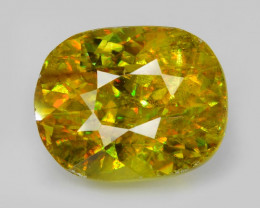 *NoReserve* Un-Heated Sphene 4.18 Cts Stunning Multi Color Change Natural g