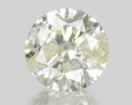 Diamond 0.44 Cts Untreated Fancy White (Light Yellow) Color Natural