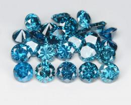 *NoReserve*Diamond 2.32 Cts 26 Pcs Sparkling Blue Color Natural