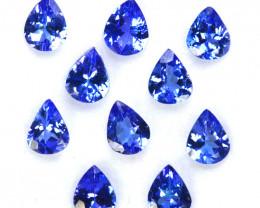 3.15 CtsNatural Purple Blue Tanzanite 5x4mm Drop Cut 10Pcs Tanzania