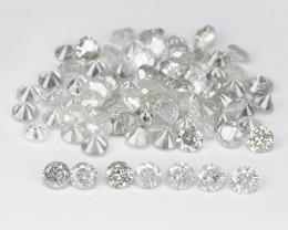 Diamond 2.50 Cts Untreated Fancy White/Brown/Yellow/Grey Color Natural
