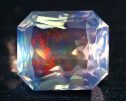 2.46Ct ContraLuz Mexican Crystal Precision Cut Very Rare Species Opal A2501