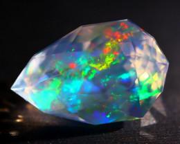 6.06Ct ContraLuz Mexican Crystal Precision Cut Very Rare Species Opal A2502