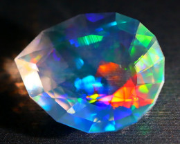 2.91Ct ContraLuz Mexican Crystal Precision Cut Very Rare Species Opal A2503