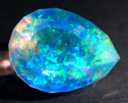 7.21Ct ContraLuz Mexican Crystal Precision Cut Very Rare Species Opal A2504
