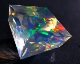 5.18Ct ContraLuz Mexican Crystal Precision Cut Very Rare Species Opal A2505