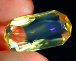 8.30Ct Ethiopian Fire Opal Crystal Flash Fire Opal Precision Cut A2507